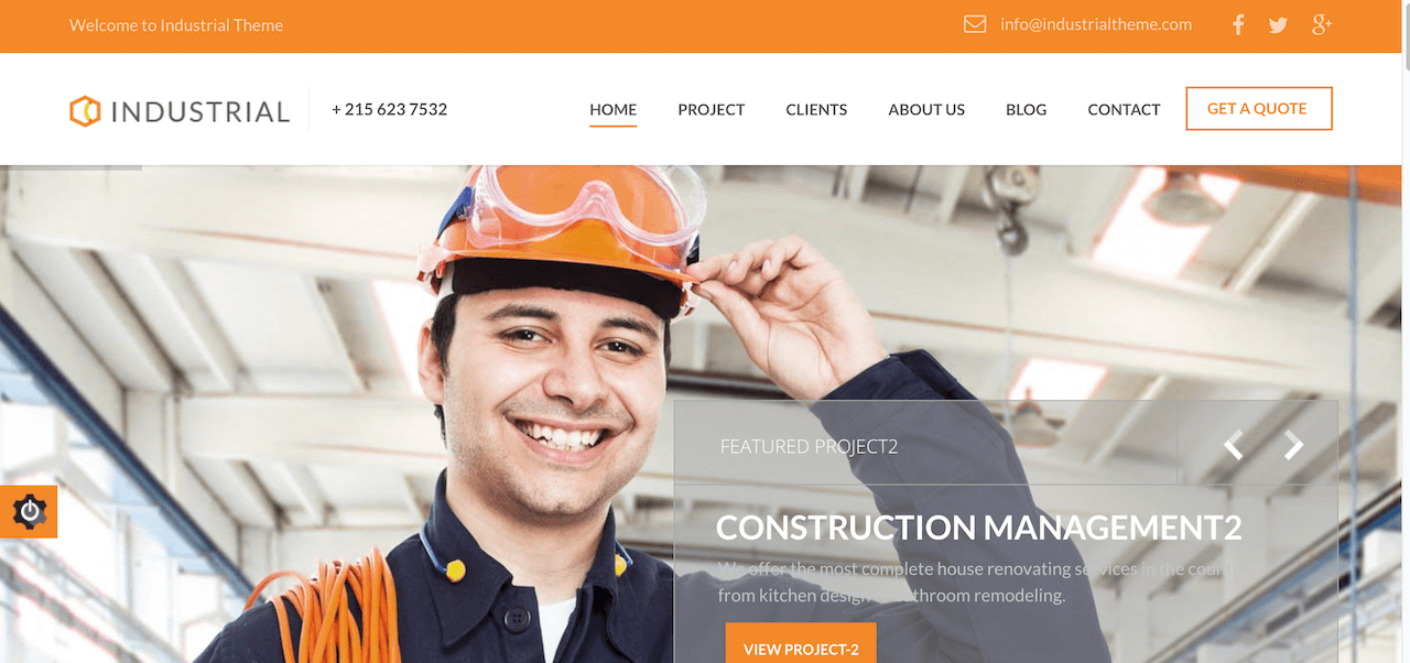 20 Factory and Industrial WordPress Themes 2018 - Minimalist
